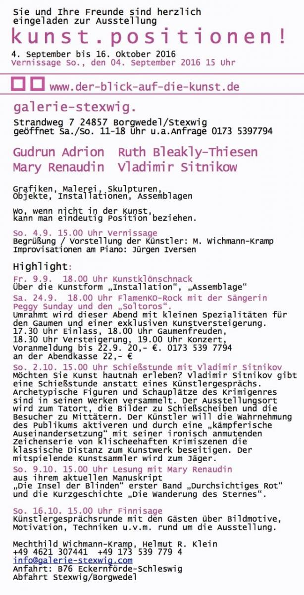 Galerie Stexwig Kunst.Positionen! 3