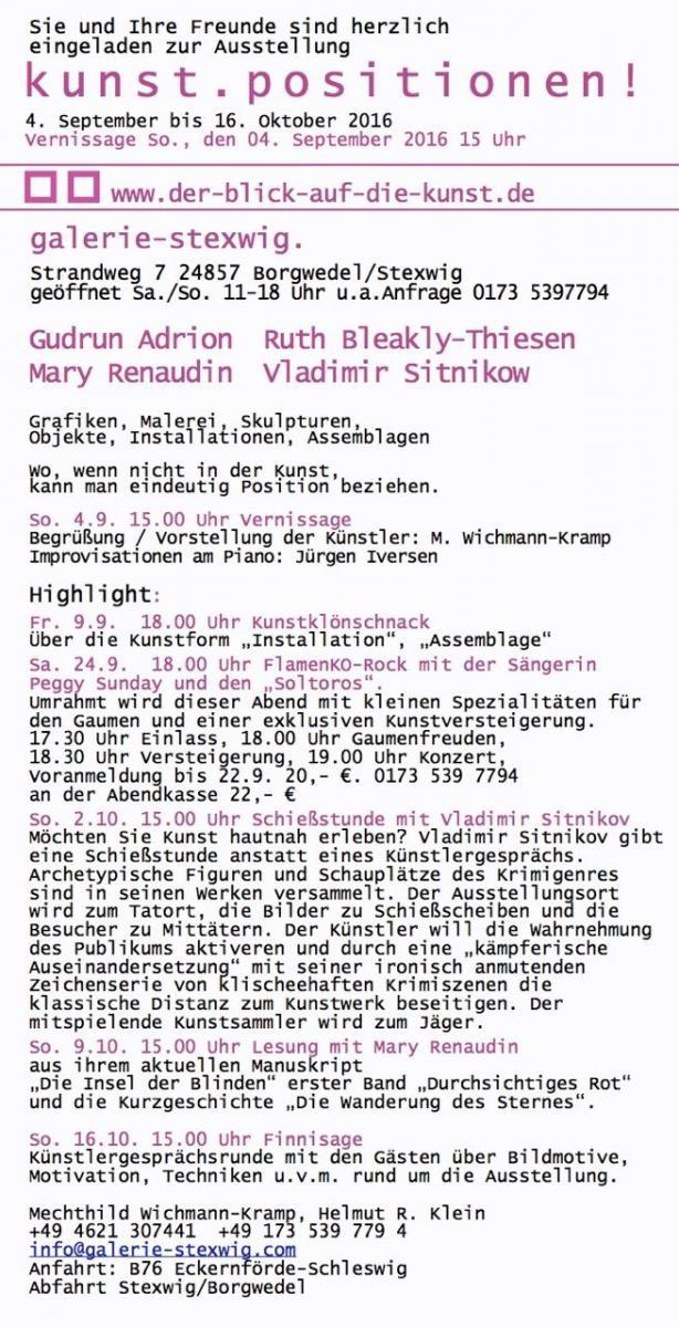 Galerie Stexwig Kunst.Positionen!
