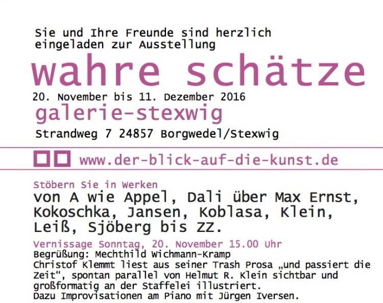 Vernissage wahre Schätze Galerie Stexweig