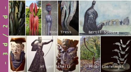 Skulpturenausstellung in Galerie Stexwig an der Schlei