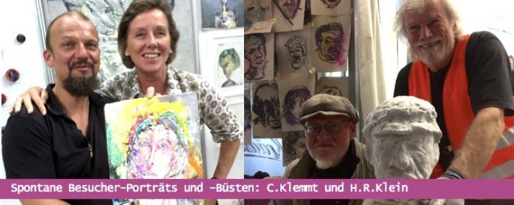 Besucherporträts in der Galerie Stexwig