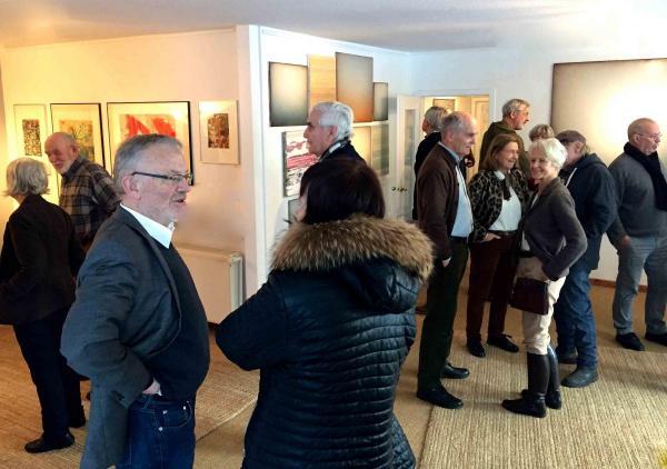 Besucher in der Galerie Stexwig