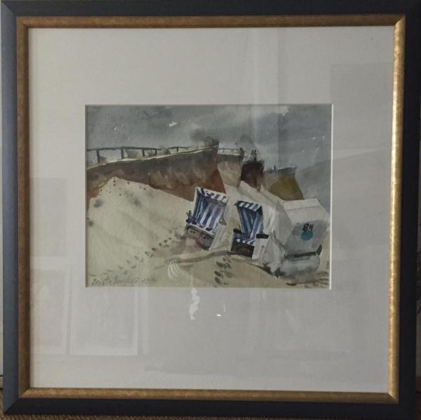 Galerie Stexwig, Brigitta Borchert, o.T., 1994, Aquarell gerahmt