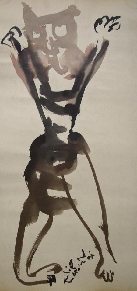 verkauft, Elif Nursad Atalay, Katze, Tusche/Papier, Galerie Stexwig