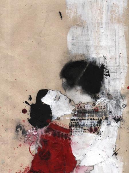 Farah Willem, le rivage des Cumes, shores of Cuma, 2014, Mischtechnik auf Reispapier, 845,-€, Galerie Stexwig, verkauft