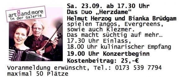 Duo Herzdame in der Galerie Stexwig