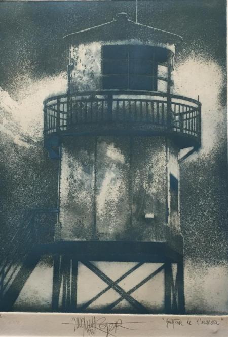 Jacques Henri Roger, Guetteur de l'aurore, 1983, Radierung e.a., 33x24cm, 280,-€, Galerie Stexwig
