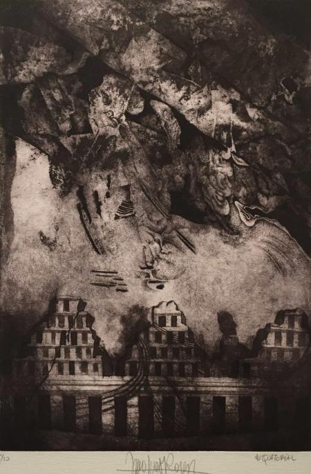 Jacques Henri Roger, equatorial, o.J., Radierung 11/50, 33x24cm, 290,-€, Galerie Stexwig