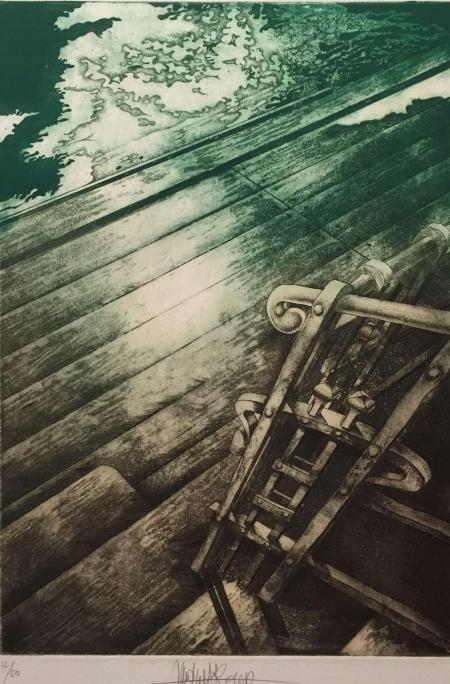 Jacques Henri Roger, o.T., 1982, Radierung 12/50, 35x24cm, 300,-€, Galerie Stexwig