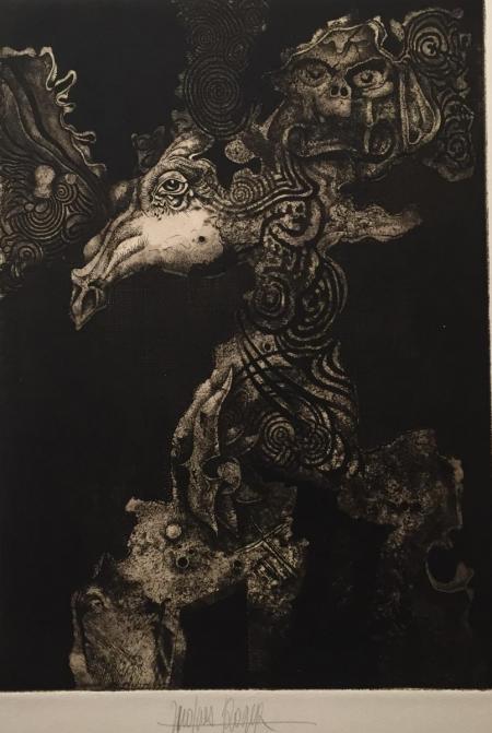 Jaques Henri Roger, o.T., o.J., Radierung o.A., 35x24,5cm, 300,-€, Galerie Stexwig