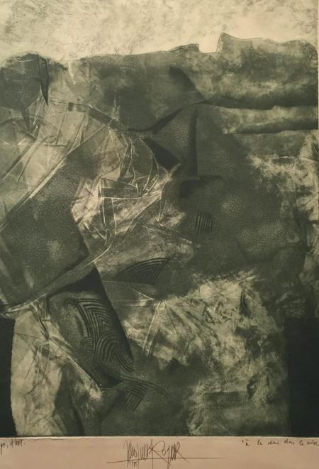 Jacques Henri Roger, A la vraie dans le ..., 1985, Radierung e.a., 40x29,5cm, 350,-€, Galerie Stexwig