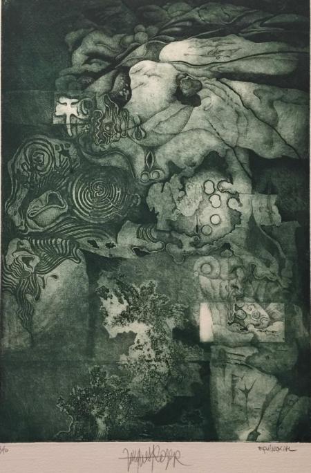 Jacques Henri Roger, equinoxite, o.J., Radierung 3/50, 35x24,5cm, 300,-€, Galerie Stexwig