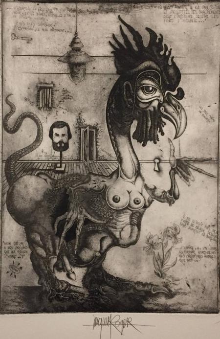 Jacques Henri Roger, o.T., o.J., Radierung o.A., 34,5x24,5cm, 300,-€ Galerie Stexwig