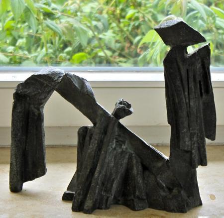 Jan Koblasa, Kameliendame, 2009, Bronze, ca. H27xL30 cm, 2.500,-€, verkauft, Galerie Stexwig