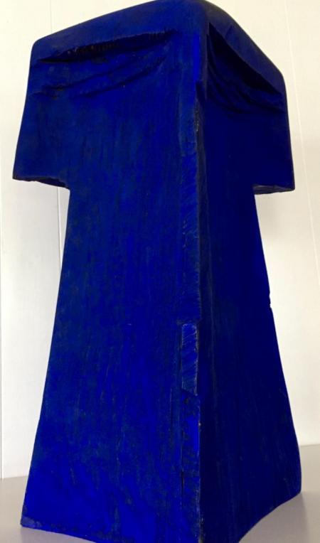 Jan Koblasa, Odysseus (2), 2000, Holz polychromiert, ca. H61xT21xB34 cm, 4.300,-€, Galerie Stexwig