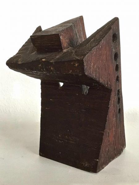 Jan Koblasa, Feuervogel dunkel, 2008, Holz, polychromiert, ca.h30xt16xb18 cm, 1.600,-€, Galerie Stexwig