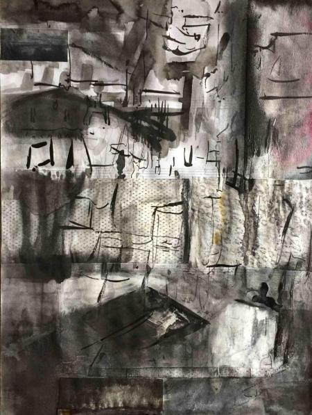 Jane Walker, Inner City 3, Drawing (Mixed Media), 2013, 40x30cm, 390,-€, Galerie Stexwig