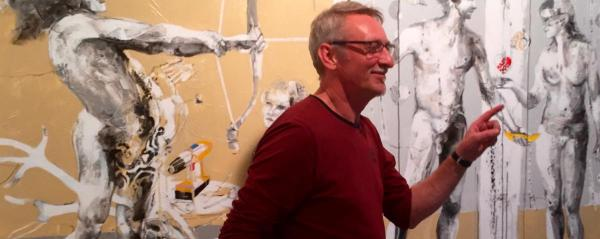 Janusz Tyrpak im Atelier, Foto Galerie Stexwig