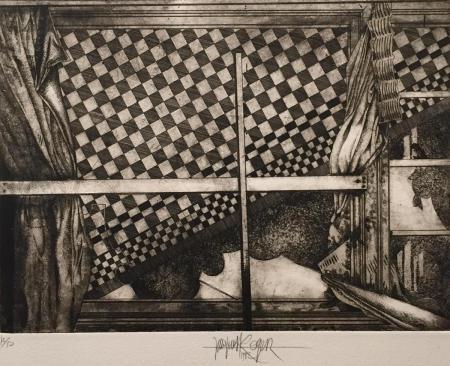 Jacques Henri Roger, o.T., 1982, Radierung 15/50, 25x24,5cm, 250,-€, Galerie Stexwig
