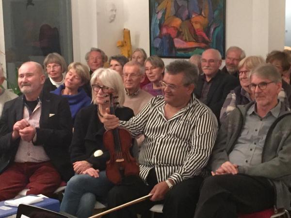Martin Weiss im Auditorium der Galerie Stexwig