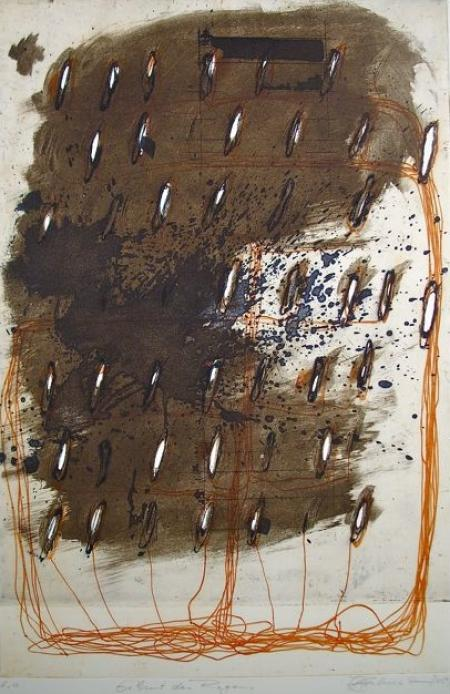 Otto Beckmann, Geburt des Regens, 2009, Farbradierung e.a., 50x37,5cm, 360,-€, Galerie Stexwig
