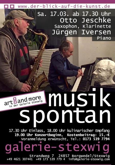 Otto Jeschke und Juergen Iversen spielen in der Galerie Stexwig