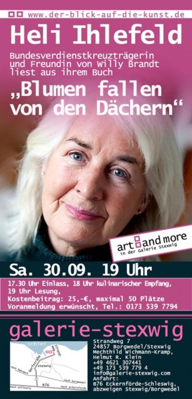 Plakat Heli Ihlefeld in der Galerie Stexwig
