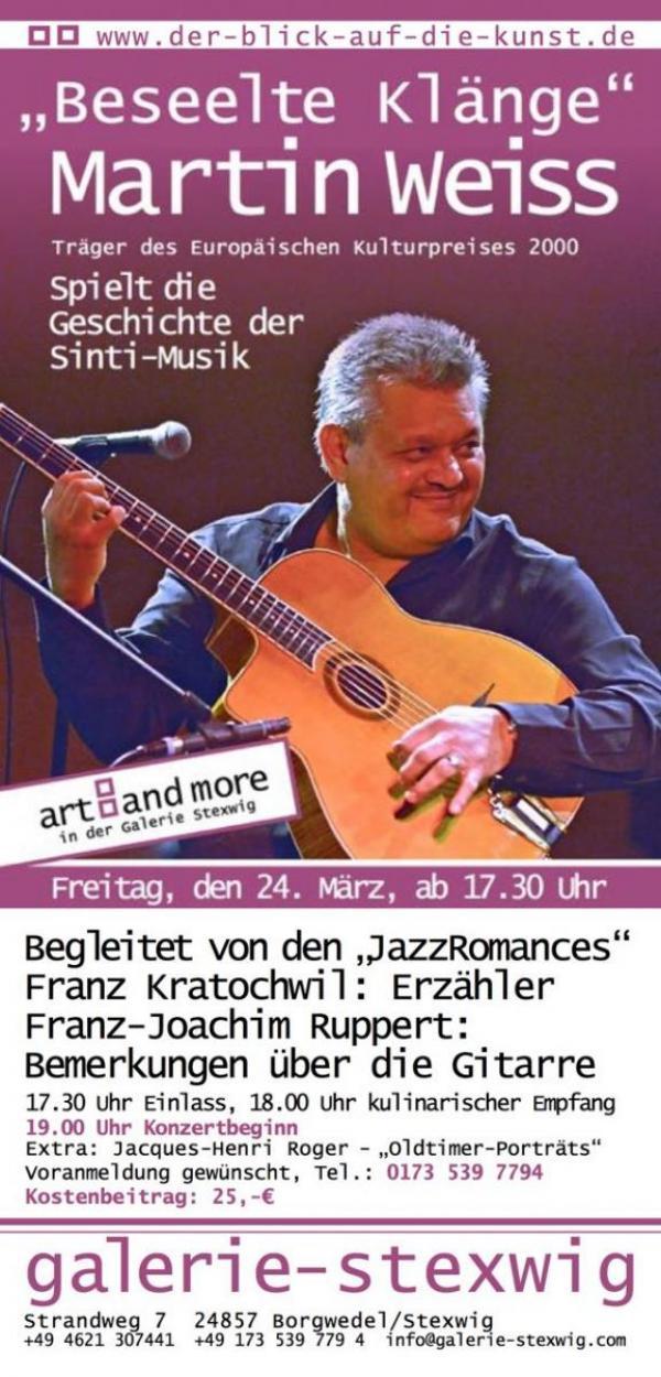 Martin Weiss, Sinti-Musik in der Galerie Stexwig