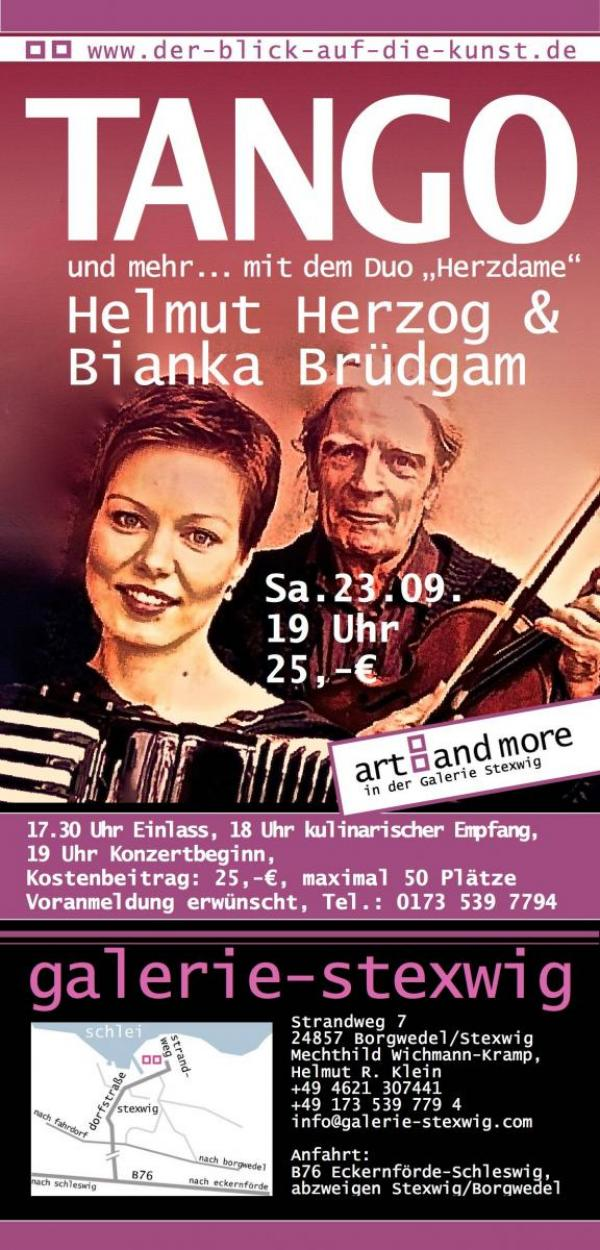 Plakat Tango der Galerie Stexwig