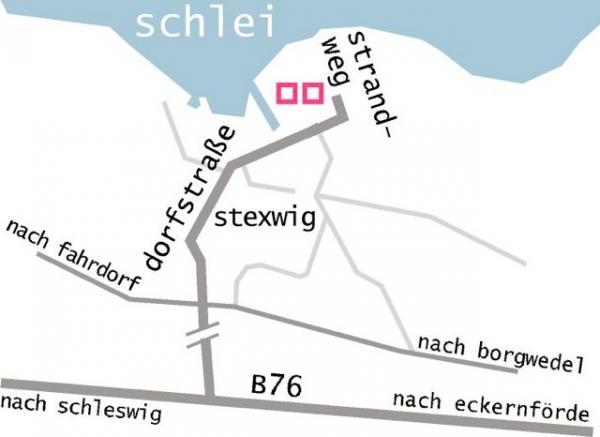 Anfahrt zur Galerie Stexwig